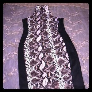 Block Off Black/Snake Skin Dress (Worn Once)